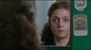The maid Emilia (Laura Betti) conflates sexual desire with religious passion in Pier Paolo Pasolini's Teorema (1968)