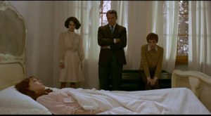 Odette (Anne Wiazemsky) escapes unbearable desire by becoming catatonic in Pier Paolo Pasolini's Teorema (1968)