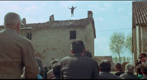 Emilia (Laura Betti) achieves transcendence by becoming a village saint in Pier Paolo Pasolini's Teorema (1968)