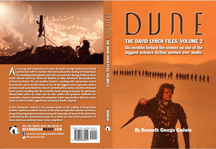 BearManor Media cover for Dune: The David Lynch Files Volume 2