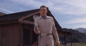 Garth A7 (Michael Rennie), sent into the past to change the future in Franklin Adreon's Cyborg 2087 (1966)