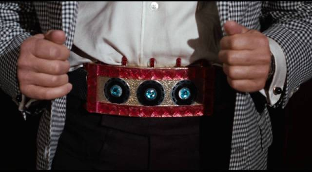 The time belt, impressive tech for 1966 in Franklin Adreon's Dimension 5 (1966)