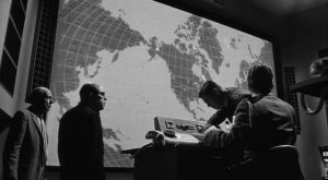 .The big situation screen in the War Room in Sidney Lumet's Fail-Safe (1964)