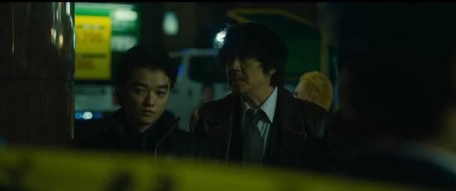Gangster Yasu (Takahiro Miura) teams up with crooked cop Otomo (Nao Ohmori) in Takashi Miike's First Love (2019)