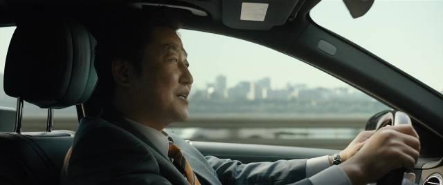 Kim Ki-taek (Bong regular Song Kang-ho) is at ease as a rich man's chauffeur in Bong Joon-ho's Parasite (2019)
