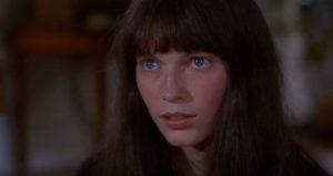 Mia Farrow as Cenci, a schizophrenic waif, in Joseph Losey's Secret Ceremony (1968)