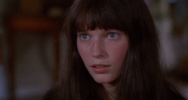 Mia Farrow as Cenci, a schizophrenic waif, in Joseph Losey's Secret Ceremony (1968)