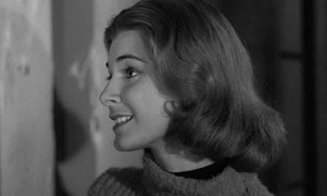 Nice girl Ellie (Barbara Lord) is involved with the wrong crowd in Julian Roffman's The Bloody Brood (1959)