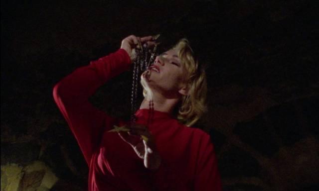 Brigitte Lahaie serves the bloodsucking Count in Jean Rollin's La fiancee de Dracula (2002)