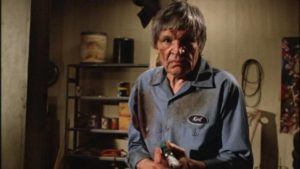 Neville Brand kidnaps people for alien experiments in Mardi Rustam's Evils of the Night (1985)