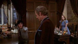 Sonny (Howard Trevor) doesn't like New Friend (Michael Bryant) in Freddie Francis' Mumsy, Nanny, Sonny & Girly (1970)