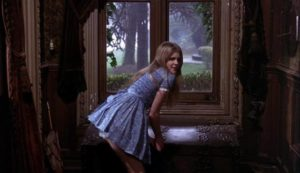 Girly (Vanessa Howard)'s eroticized immaturity is used to trap unsuspecting men in Freddie Francis' Mumsy, Nanny, Sonny & Girly (1970)