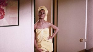 Lola Falana as a gangster's girl in Matt Cimber's Lady Cocoa (1975)