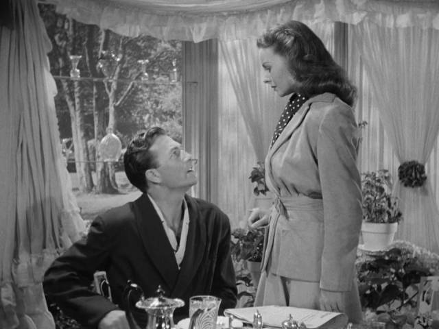 A troubled marriage: Jeffrey Lynn and Jeanne Crain in Joseph L. Mankiewicz's A Letter to Three Wives (1949)