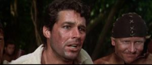 Banished, Jonathan Standing (Kerwin Matthews) is discovered by the pirate crew in John Gilling's The Pirates of Blood River (1962)