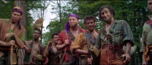 The pirates express interest in the colony's reputed treasure in John Gilling's The Pirates of Blood River (1962)