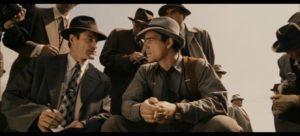 Aaron Eckhardt and Josh Hartnett at the murder scene in Brian De Palma's The Black Dahlia (2006)