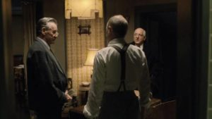 Michael Palin, Steve Buscemi and Simon Russell Beale debate their authority in Armando Iannucci's The Death of Stalin (2017)