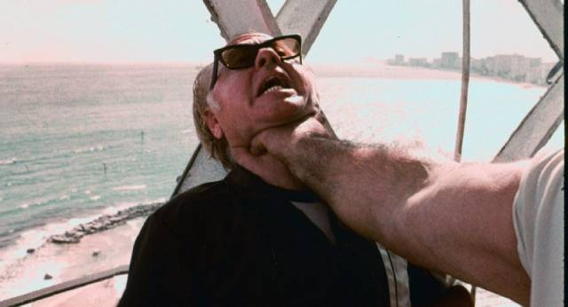 Mickey Rooney gets a nasty surprise in Chris Robinson's The Intruder (1975)