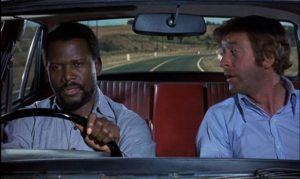 Sidney Poitier and Michael Caine on the run in apartheid South Africa in Ralph Nelson's The Wilby Conspiracy (1975)