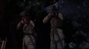 The Chinese army makes a token appearance on the Thames in Michael Carreras' Visa to Canton (1960)