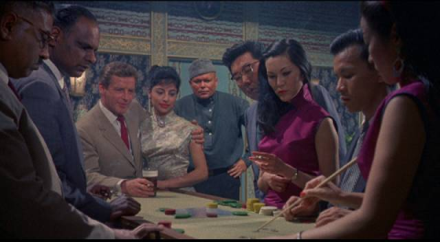 A den of iniquity in Communist China in Michael Carreras' Visa to Canton (1960)