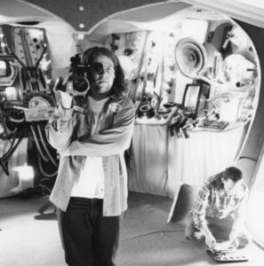Matthew Etches shooting his making-of on the spaceship set of Kenneth George Godwin's The Adventures of Steall Starr of the Galaxy Rangers in the 23rd Century, Chapter 7: Falling Starr! (1994)