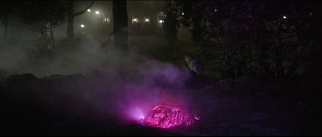 A meteor crashes in the Gardners' front yard in Richard Stanley's Color Out Of Space (2019)