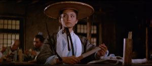 Golden Swallow (Cheng Pei-pei) is taken for a man by the people at the inn in King Hu's Come Drink With Me (1966)