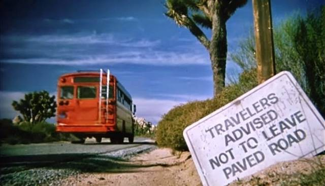 It doesn't pay to ignore road signs in Wes Craven's The Hills Have Eyes Part 2 (1984)