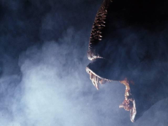 The murderous alien in Don Dohler's backyard epic Nightbeast (1982)