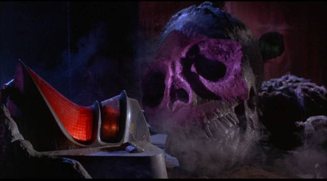 The dead alien pilot in Mario Bava's Planet of the Vampires (1965)