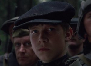 Flyora (Alexei Kravchenko) starts as a boy believing war is an adventure in Elem Klimov's Come and See (1985)