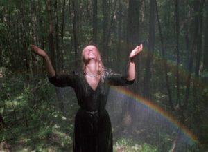 For a brief idyllic moment Glasha (Olga Mironova) and Flyora (Alexei Kravchenko) play like children in Elem Klimov's Come and See (1985)