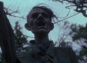 An effigy of Hitler constructed by villagers who managed to escape a German attack in Elem Klimov's Come and See (1985)