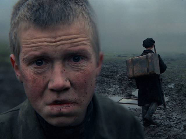 Flyora (Alexei Kravchenko) has seen more than anyone can bear in Elem Klimov's Come and See (1985)