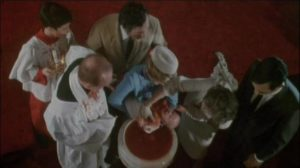 Hints of future problems at Andrew William (Stefan Arngrim)'s baptism in Frank LaLoggia's Fear No Evil (1981)