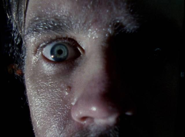 Sam (Larry Fessenden) realizes that he's lost in Larry Fessenden's Habit (1995)