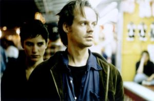Sam (Larry Fessenden) becomes increasingly disoriented as the strange relationship with Anna (Meredith Snaider) develops in Larry Fessenden's Habit (1995)