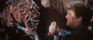 Big Ben (Richard Moll) isn't the only thing bothering Roger Cobb (William Katt) in Steve Miner's House (1985)