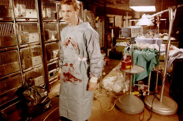 Geoffrey (Stephen Ramsey) has good reason to keep his work secret in Larry Fessenden's No Telling (1991)