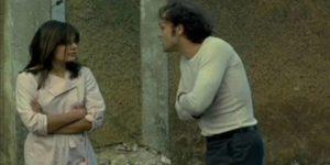 ... and Mona (Marie Trintingnant) is not quite the damsel Franck Poupart (Patrick Dewaere) imagines in Alain Corneau's Serie Noire (1979)