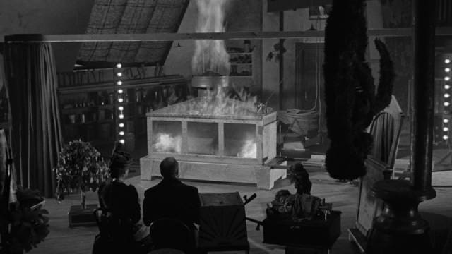 There are bound to be consequences when pyrotechnics are used on stage in John Brahm's The Mad Magician (1954)