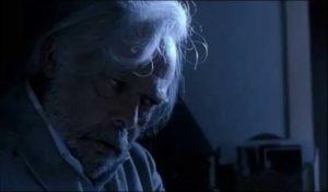 Old man Moebius Kelly (Herbert Lom) isn't as helpless as he seems in Michele Soavi's The Sect (1991)