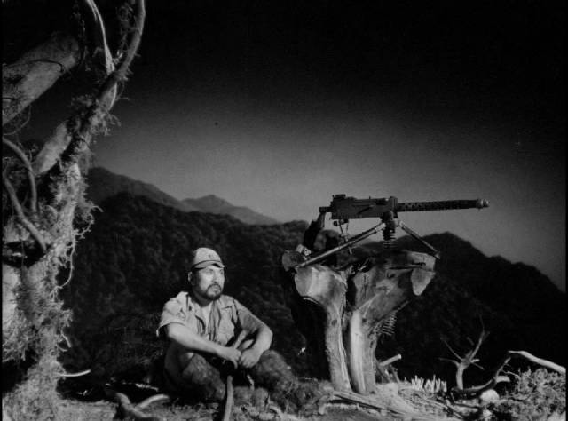 A stranded soldier determined to defend the island in Josej Von Sternberg's The Saga of Anarahan (1953)