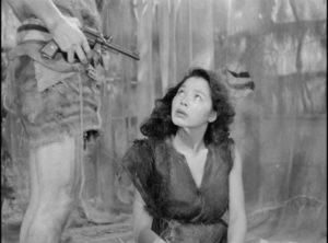 Keiko (Akemi Negishi) submits to one man after another in Josej Von Sternberg's The Saga of Anatahan (1953)