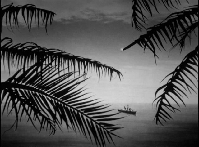 Passing ships announce the end of the war in Josef Von Sternberg's The Saga of Anatahan (1953)