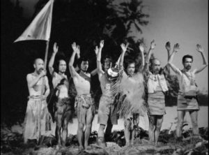 The stranded men finally see an end to their seven-year isolation in Josef Von Sternberg's The Saga of Anatahan (1953)