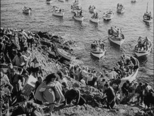 People come to the island from all over the world looking for freedom in Leo Joannon's Atoll K (1951)