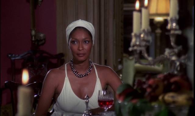 Marlene Clark adds some class as Newcliffe's wife, Caroline in Paul Annett's The Beast Must Die (1974)